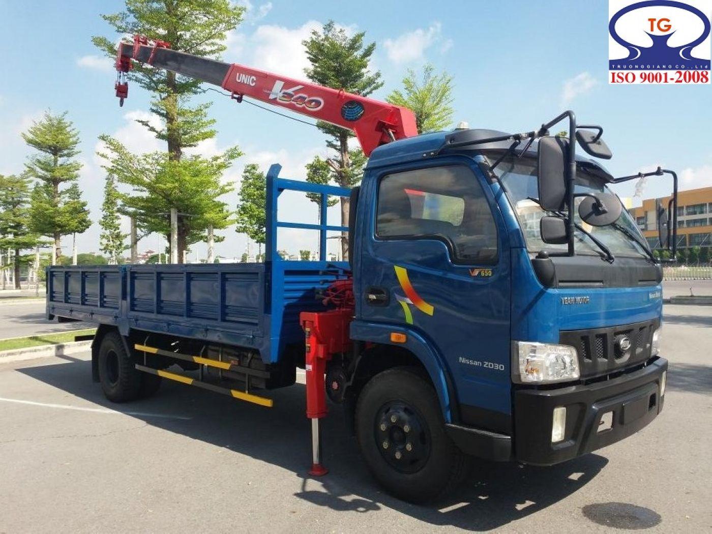 Xe tải cẩu Veam 1 tấn